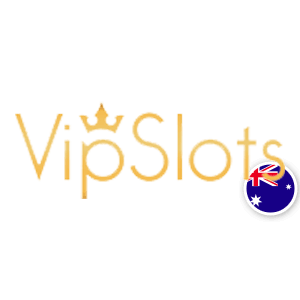 vip slots logo with australian flag